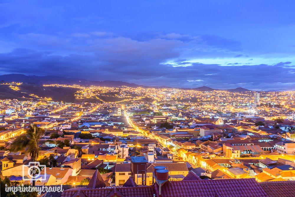 Bolivien Sehenswürdigkeiten Sucre Nacht