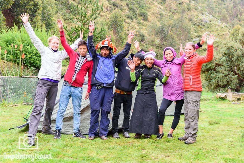 Lares Trekkinng nach Machu Picchu Gruppenfoto