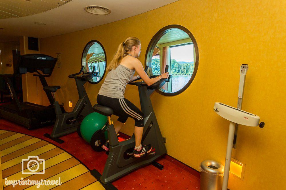 Flusskreuzfahrt A-Rosa Fitnessbereich