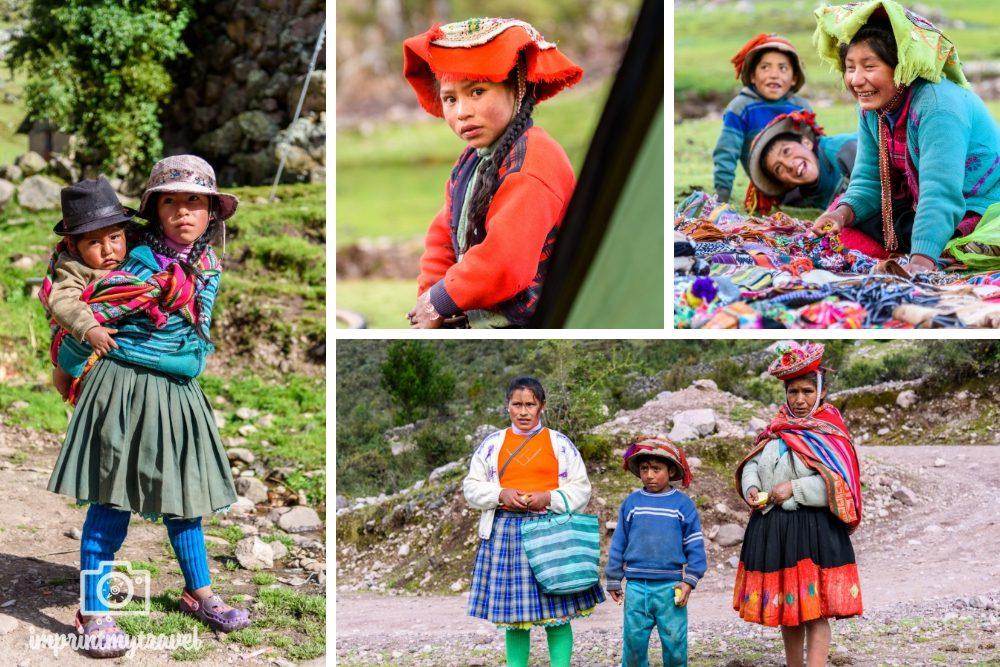 Lares Trekking nach Machu Picchu Menschen