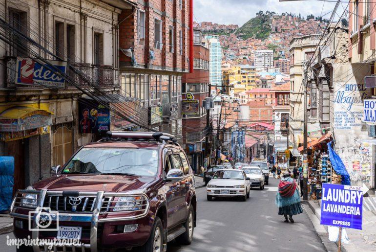 Bolivien Reise La Paz Verkehr