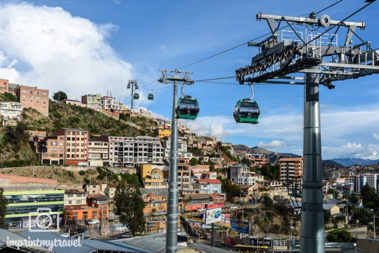 Bolivien Reise La Paz Seilbahn