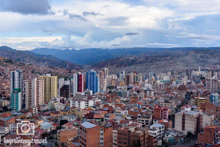 Bolivien Reise La Paz Ausblick Seilbahn