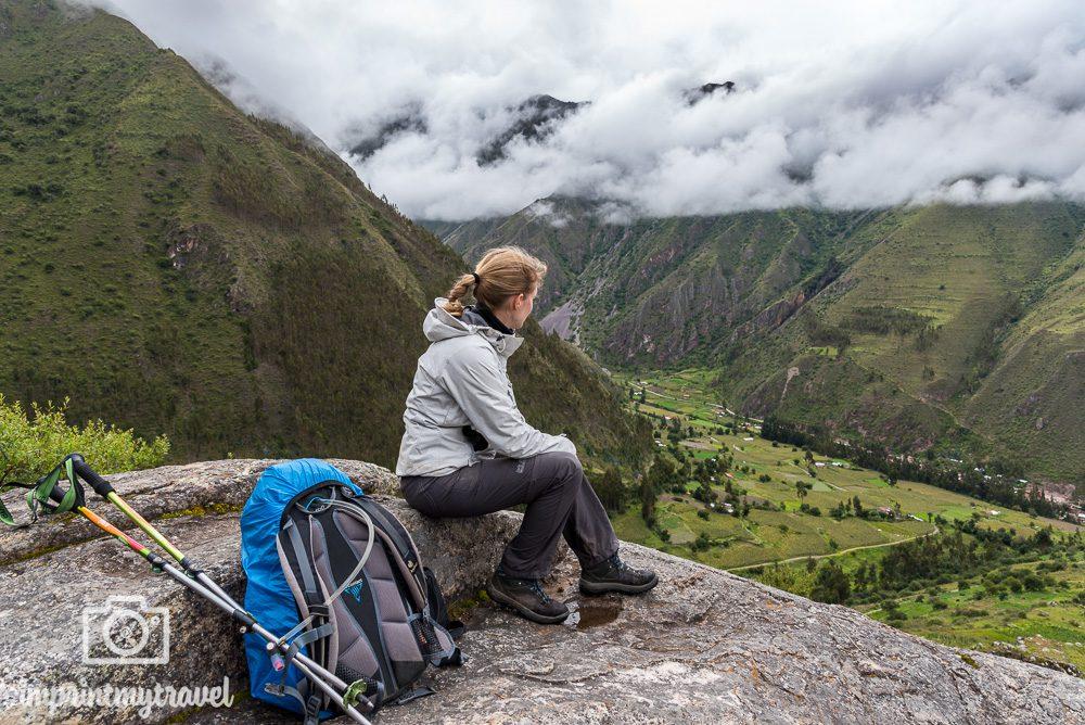 Lares Trekking nach Machu Picchu Aussicht