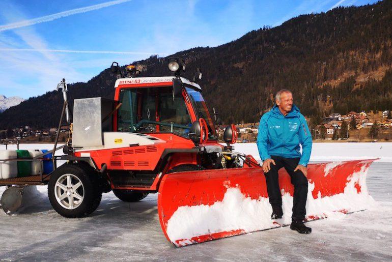 Urlaub in Weissensee Eislaufen