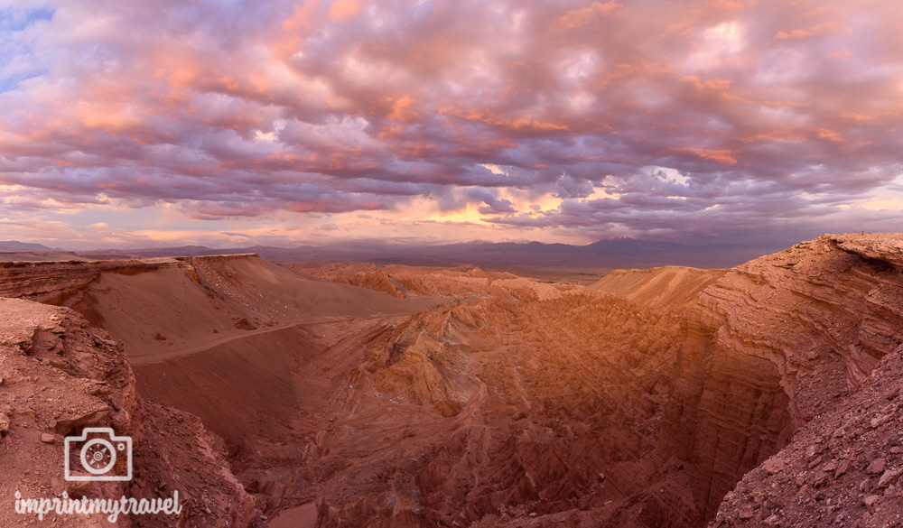 Atacama Sehenswürdigkeiten Todestal Sonnenuntergang
