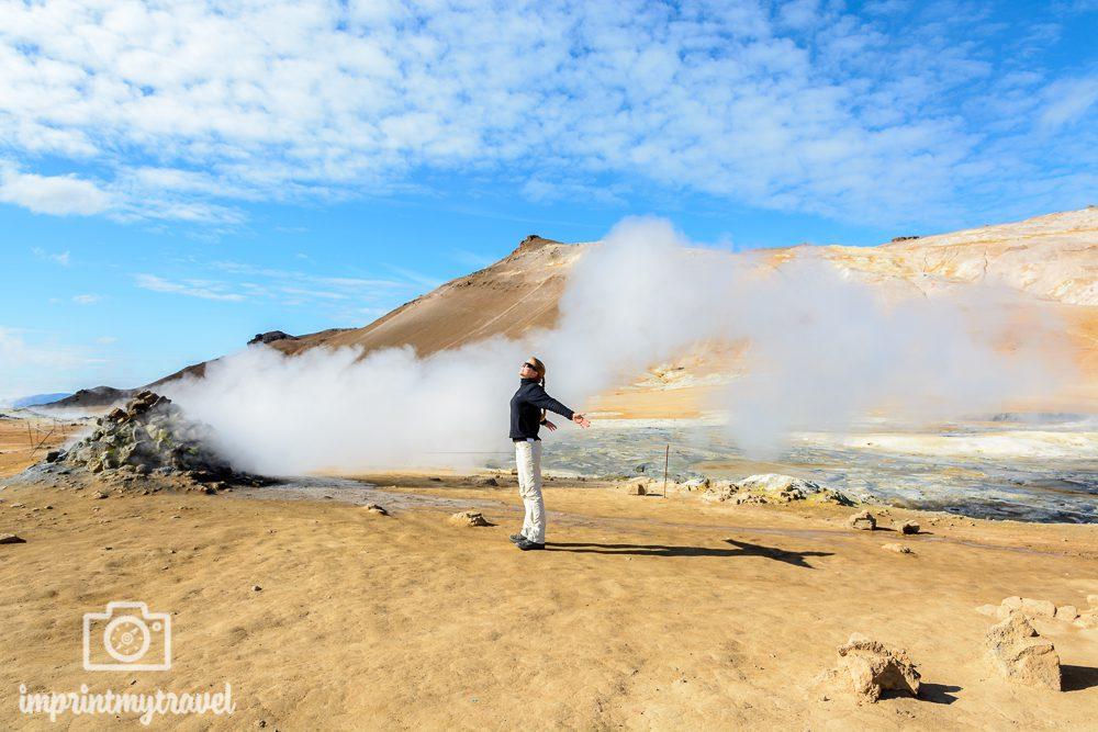 Fotomotive in Island Geothermalfeld Hverir