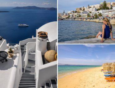 Die 5 schoensten griechischen Inseln: Paros, Mykonos, Naxos, Santorin, Rhodos