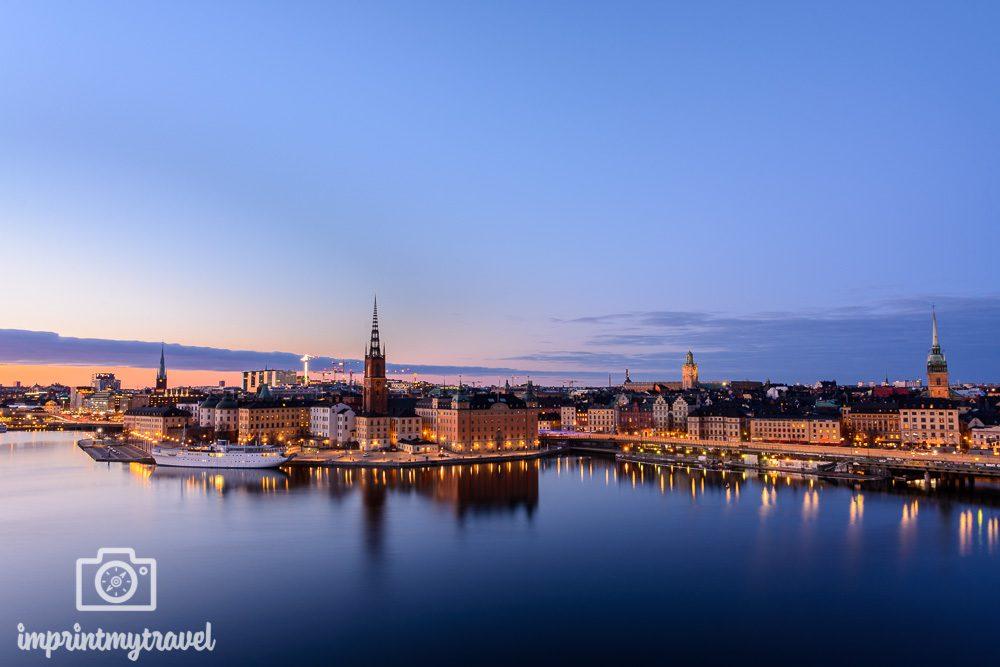Aussichtspunkt Stockholm Monteliusvägen