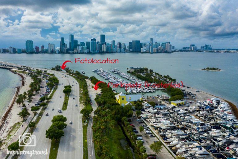 Miami Drohnenaufnahme Rickenbacker Causeway