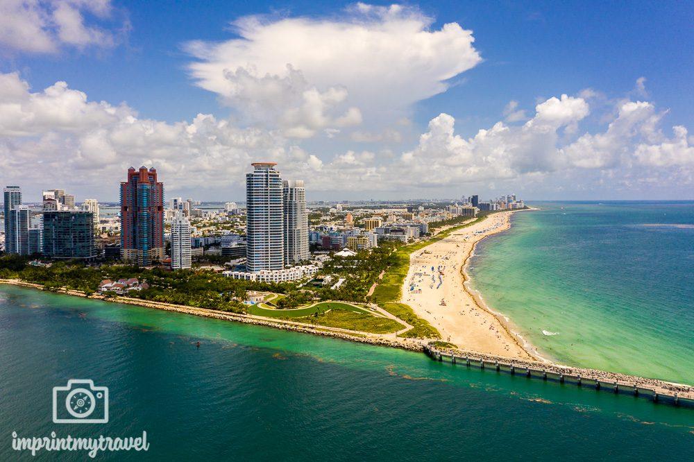 Florida Rundreise Miami Beach Luftaufnahme