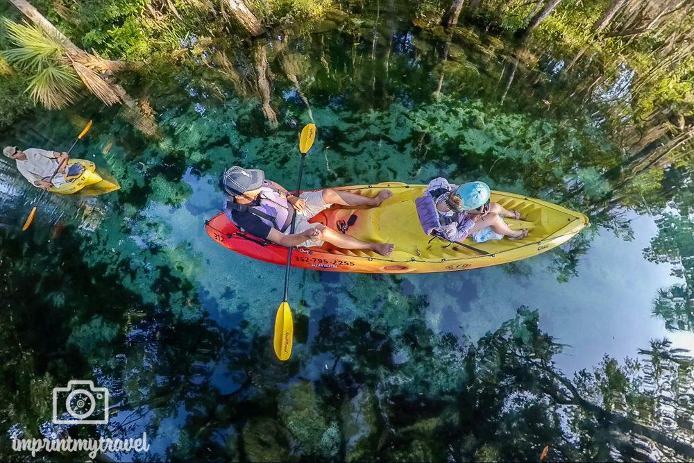 Kayaktour Three Sisters Springs Florida