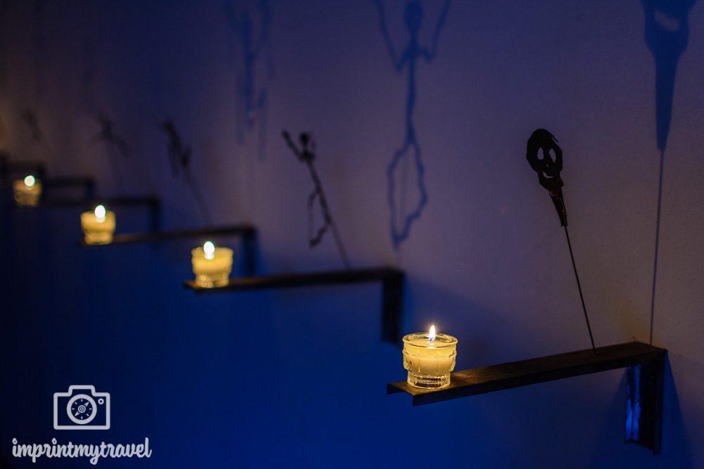 Lichtinstallation Vanitas von Christian Boltanski im Dom zu Salzburg