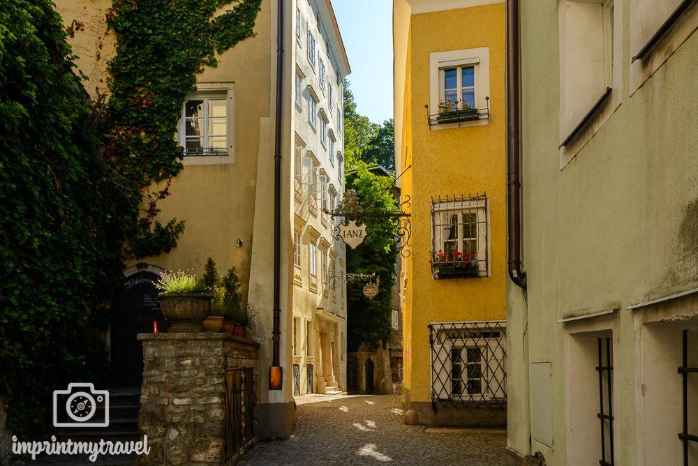Salzburg Stadtspaziergang Steingasse