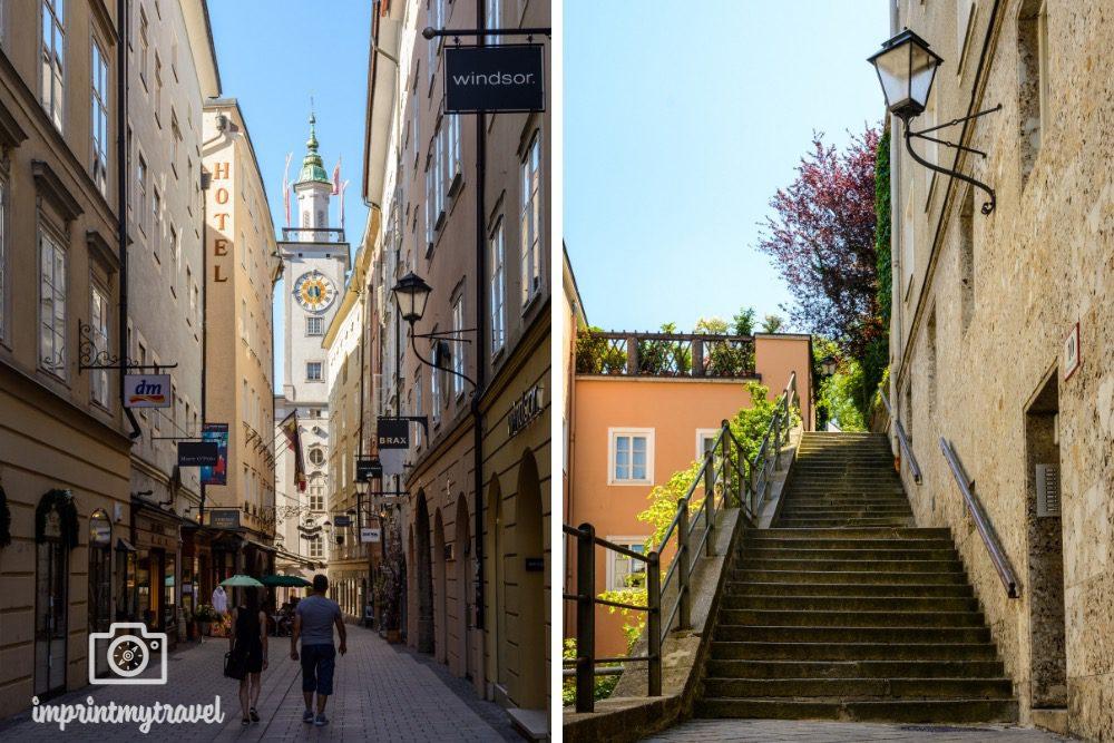 Spaziergang durch die Altstadt von Salzburg