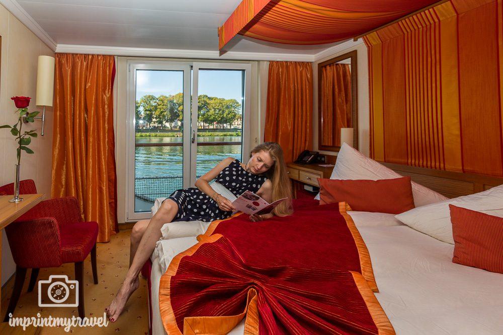 A-Rosa Flusskreuzfahrt Seine Kabine mit französischem Balkon