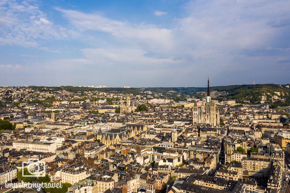 A-Rosa Flusskreuzfahrt Seine Rouen Luftaufnahme