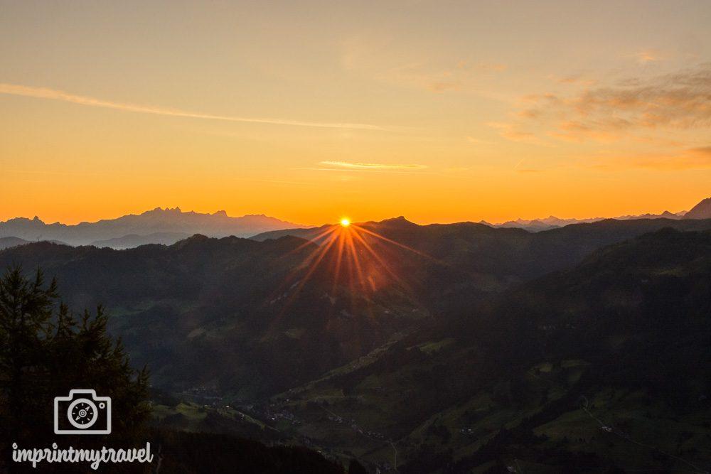 Landschaftsfotografie Tipps Sonnenstern