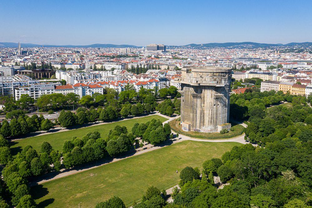 Luftbild Wien Augarten