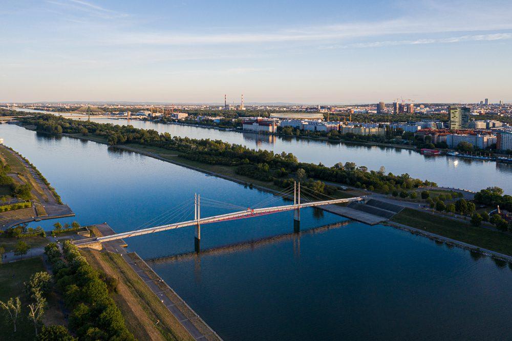 Luftfotografie Wien Donauinsel
