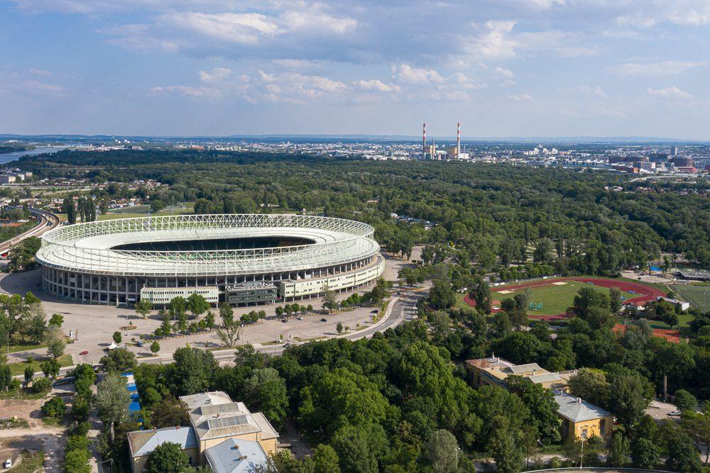 Wiener Ernst-Happel-Stadion von oben