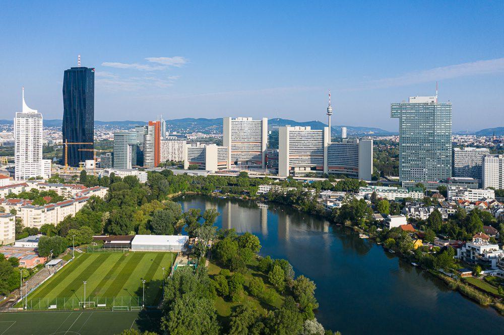 Wien aus der Vogelperspektive Kaiserwasser
