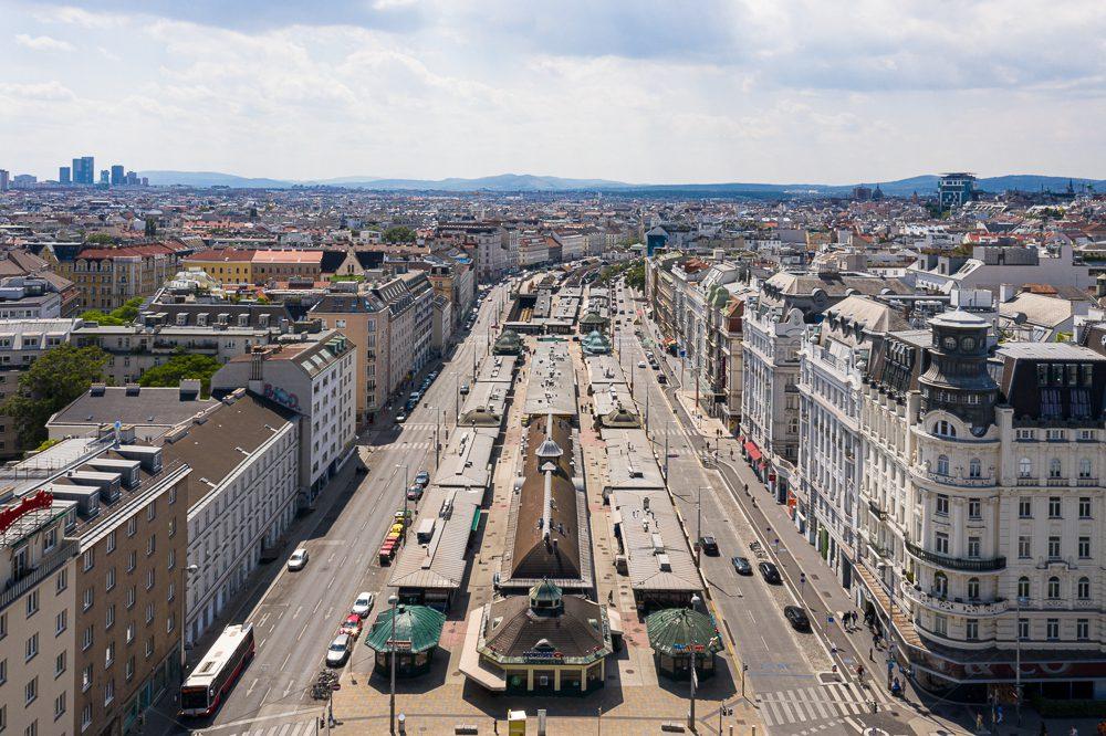 Aerials Wiener Naschmarkt
