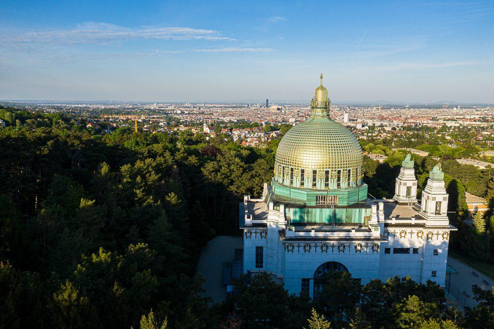 Luftbilder Wien Kirche am Steinhof