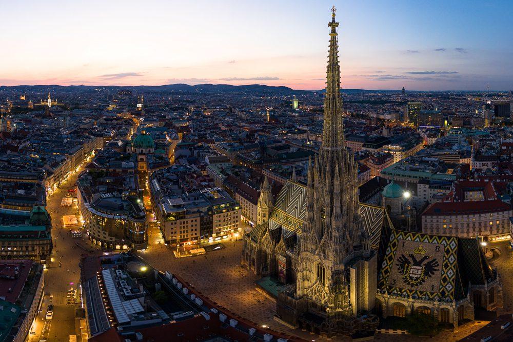 Luftaufnahmen von Wien Stefansdom
