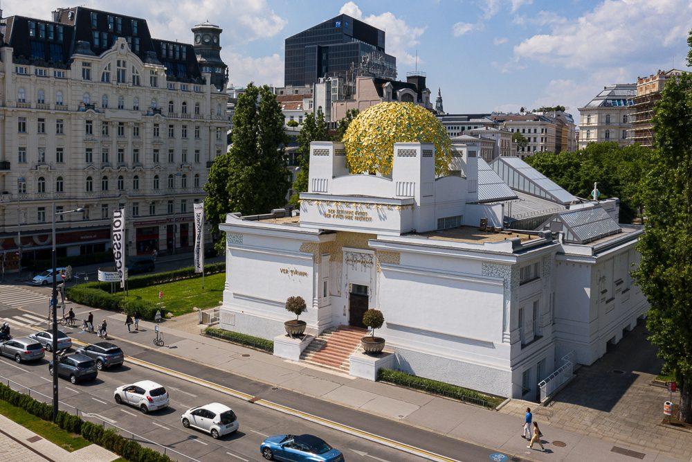 Luftaufnahmen von Wien Secession