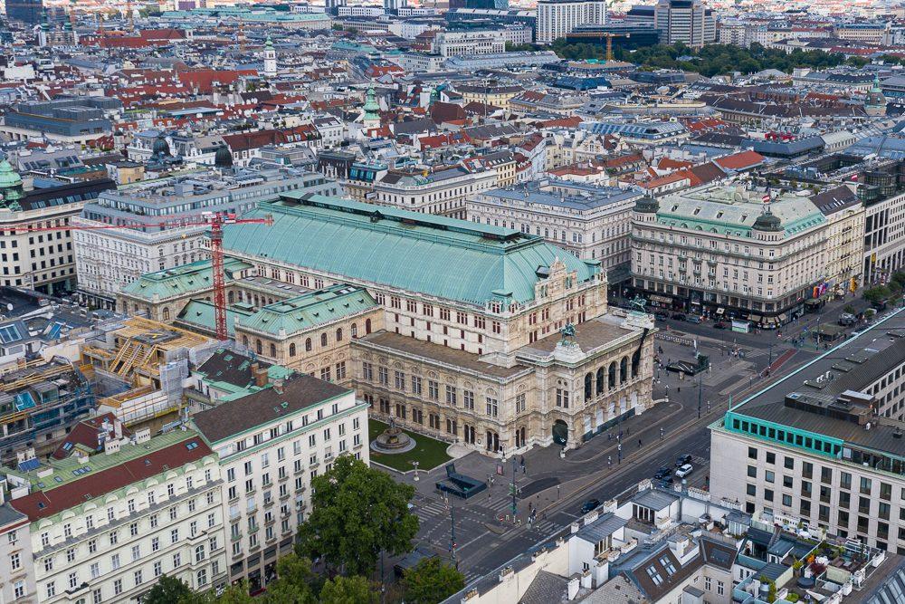Drohnenaufnahme Wiener Staatsoper