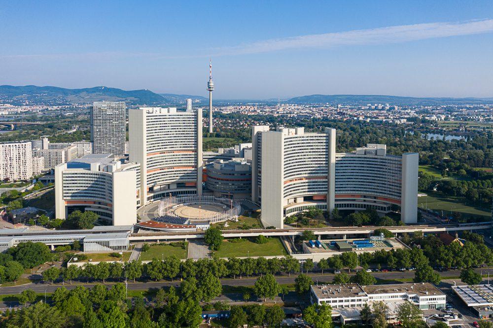 Drohnenbilder von Wien UNO-City