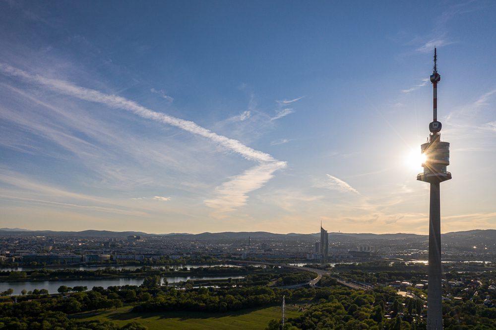 Wien Donauturm Aerial