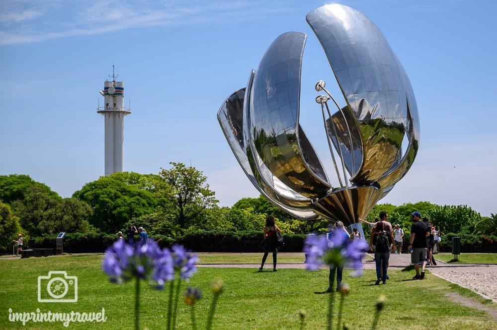 Buenos Aires Wahrzeichen Stahlblume