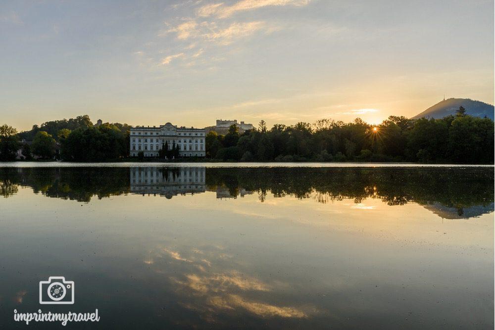 Schloss Leopoldskron Sonnenaufgang