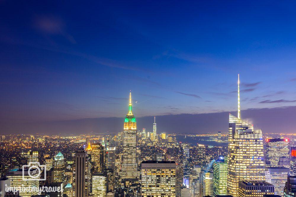 nachtaufnahme new york top of the rocks