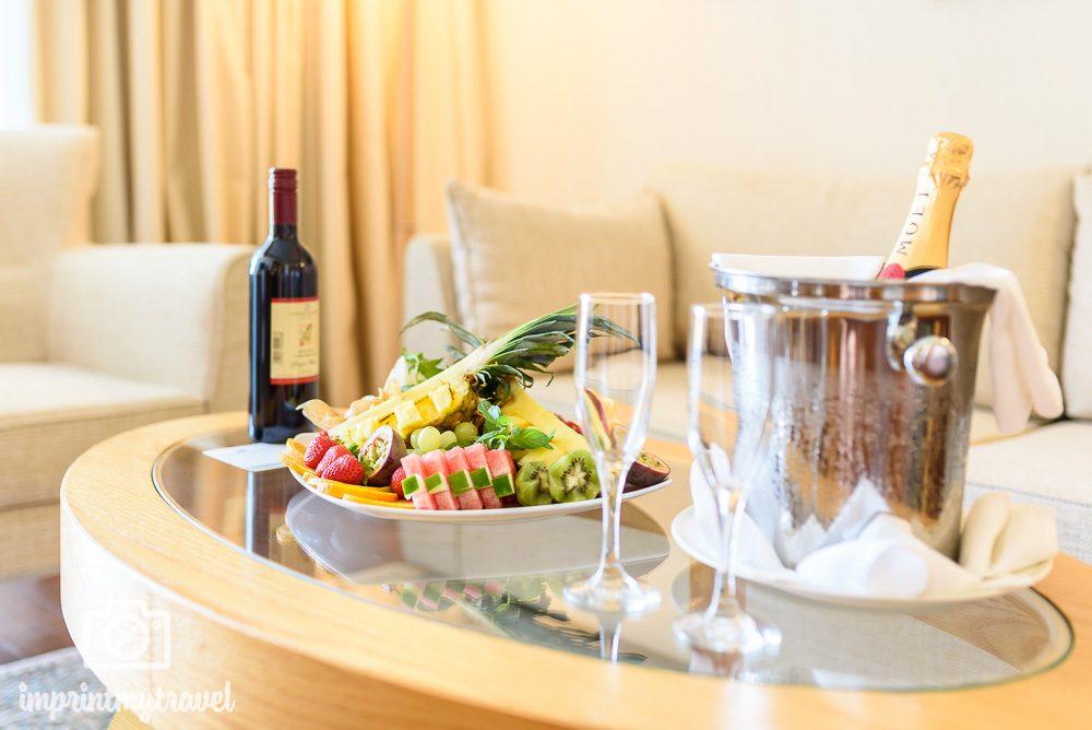 Asimina Suites Hotel Executive Suite Begrüßung