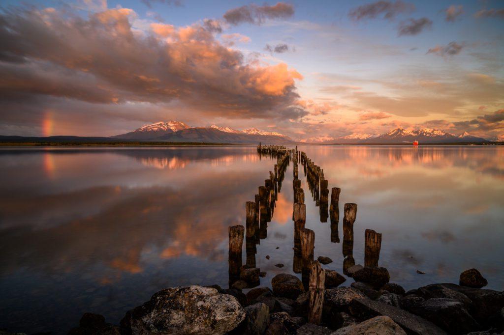 Wandbild Sonnenaufgang Puerto Natales