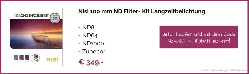 Fotografie Filter NiSi Langzeitbelichtung Kit