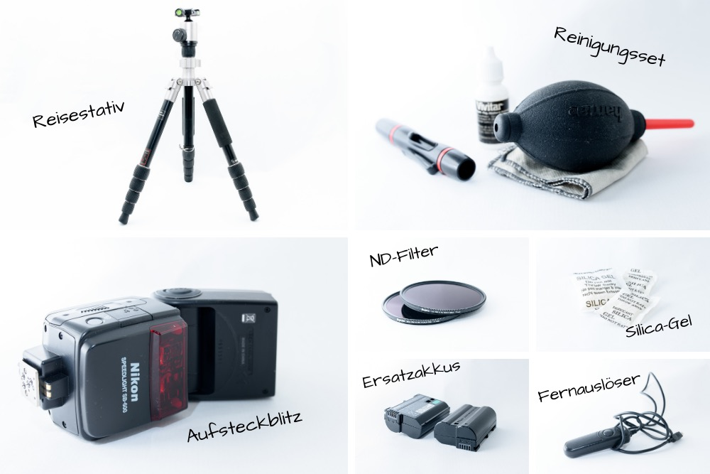 Kamerausrüstung auf Reisen Zubehör