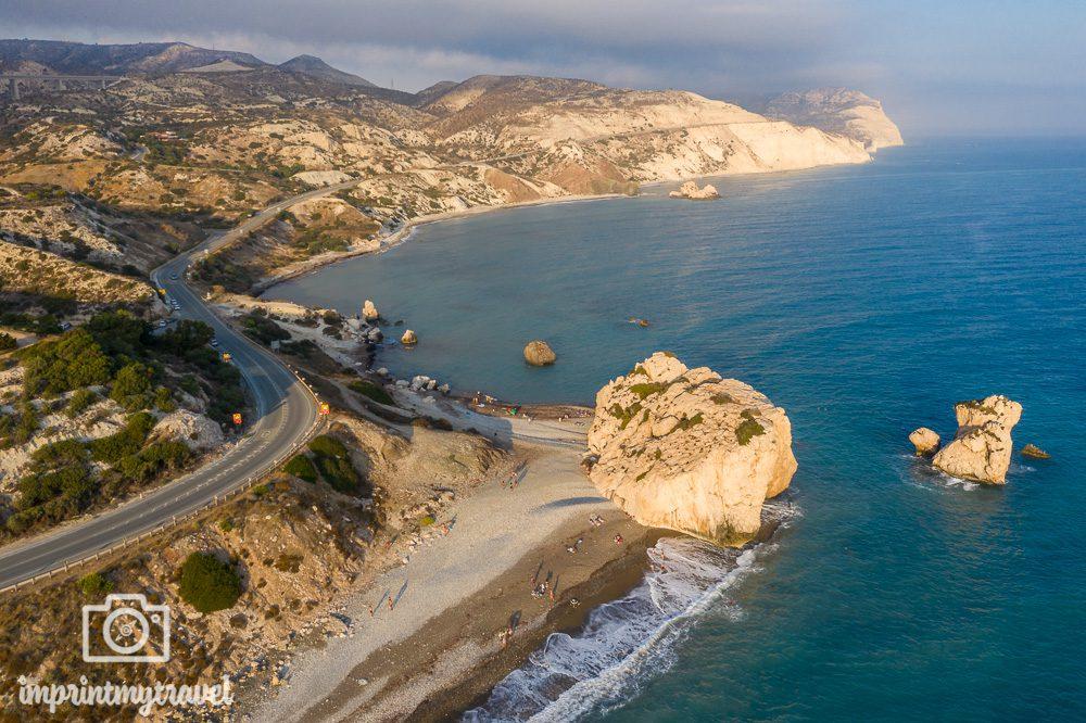 Schönste Strände Zyperns Aphrodites Rock