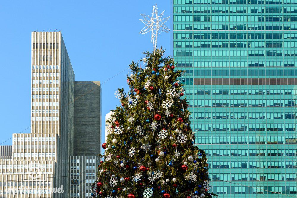 Weihnachtsbaum im Bryant Park New York