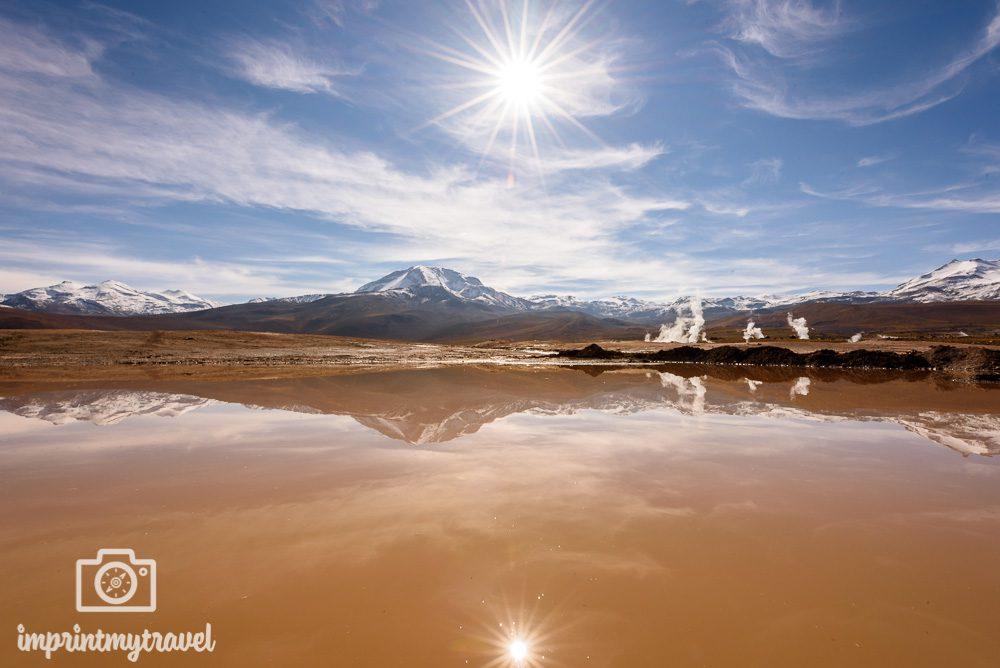 Sonnenstern fotografieren Reflexion