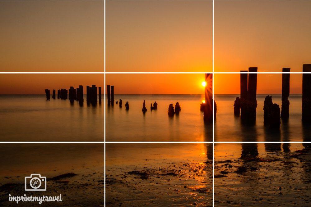 Sonnenstern Bildgestaltung Drittelregel