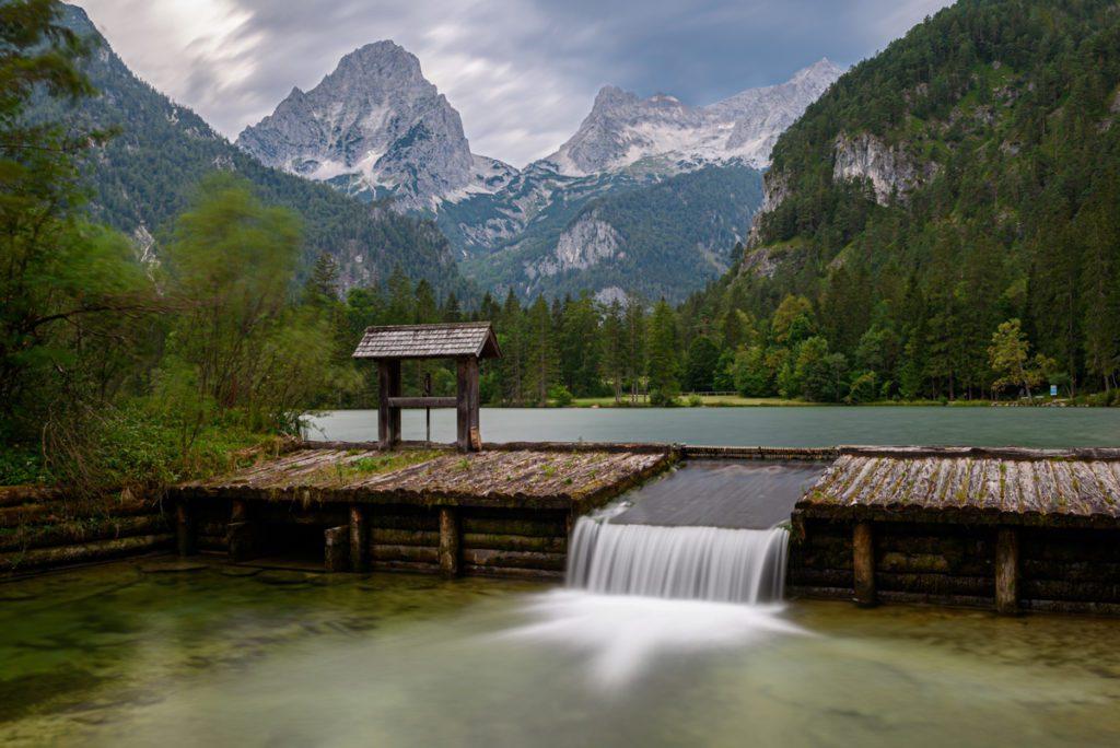 Wandbild Schiederweiher Oberösterreich