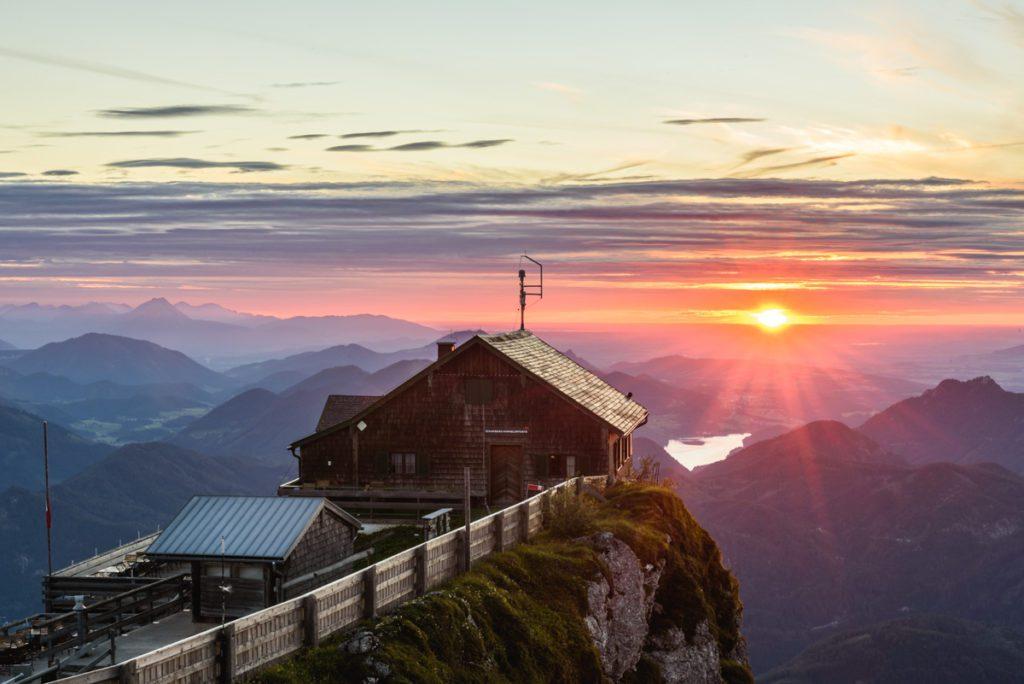 Wandbild Schafberg Sonnenuntergang 1