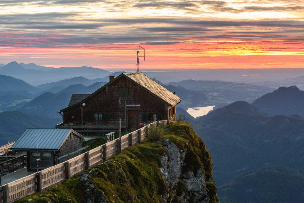 Wandbild Schafberg Sonnenuntergang 2