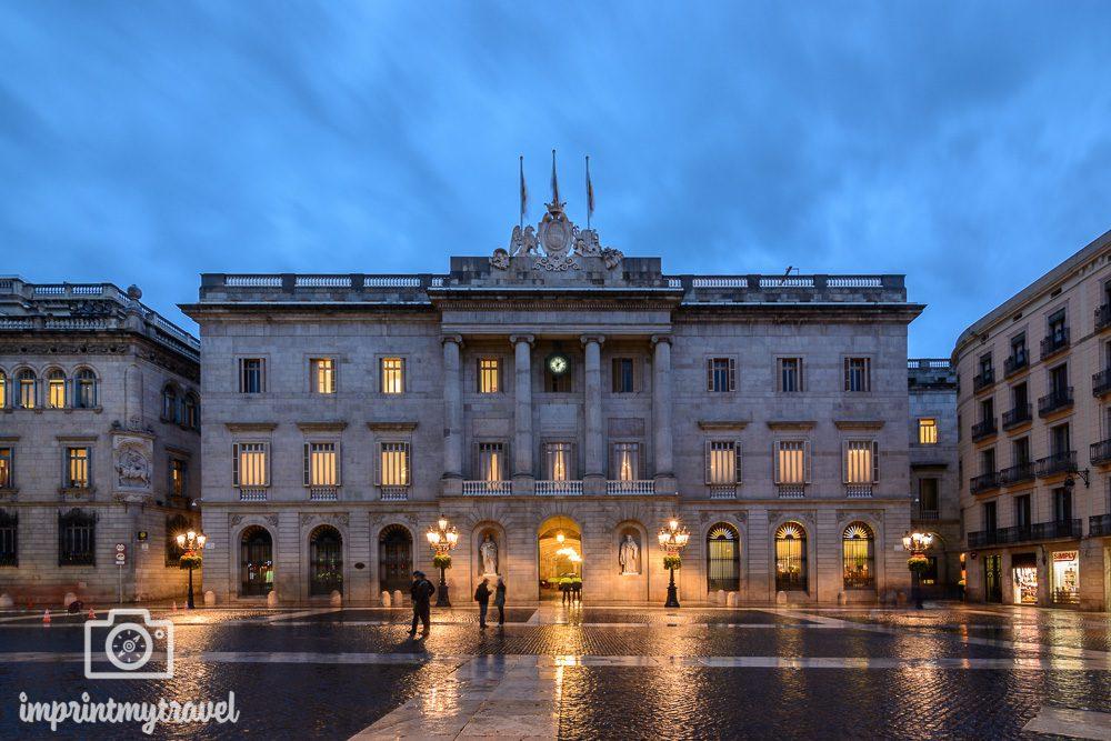Nachtaufnahmen Tutorial Barcelona Regierungsgebäude