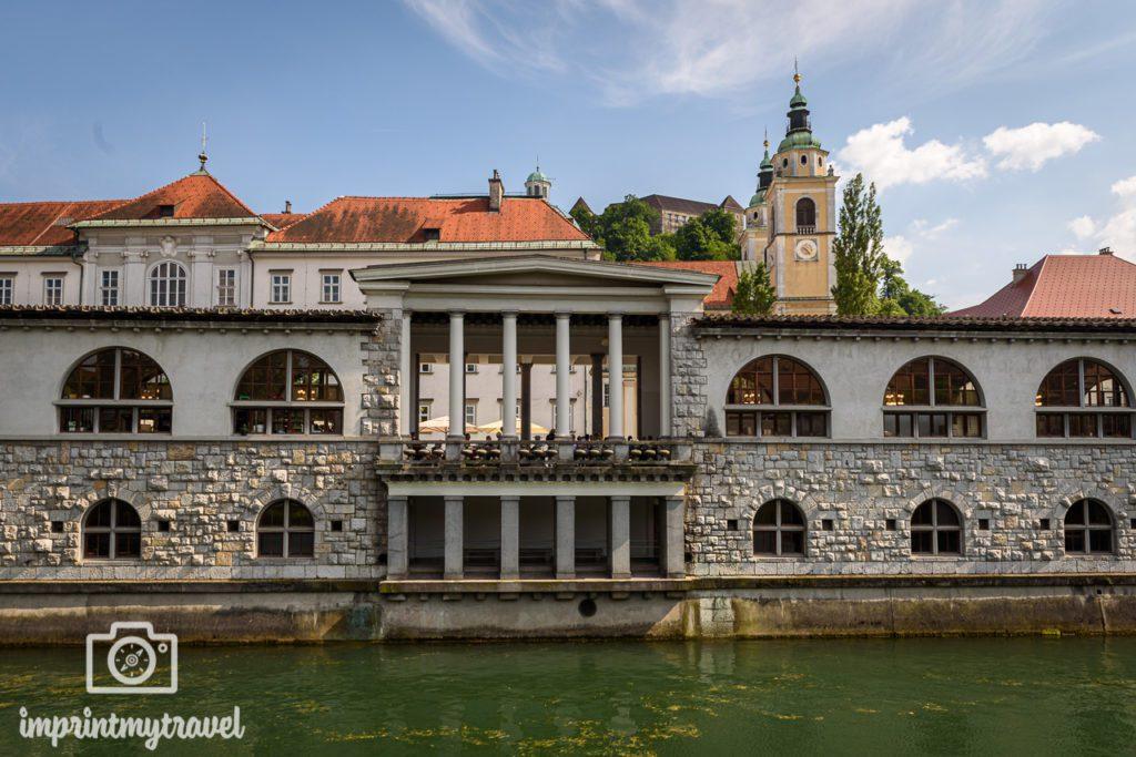 Ljubljana Sehenswürdigkeiten Markthallen