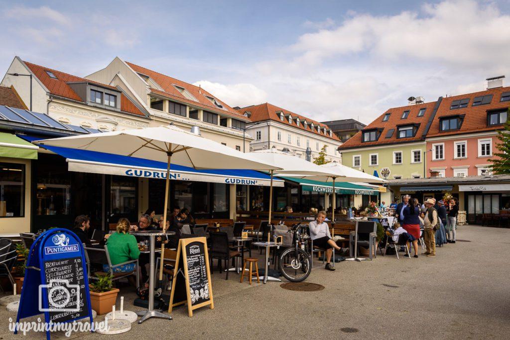 Klagenfurt tipps benediktinermarkt